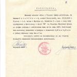 Úradný doklad o bývaní vysťahovaných v Tisovci